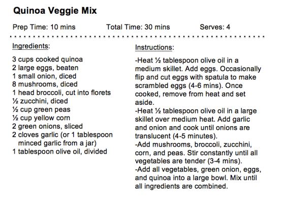 Quinoa Veggie Mix